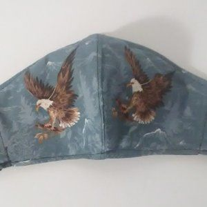 Face Mask Flying Eagle Blue Sky Adult